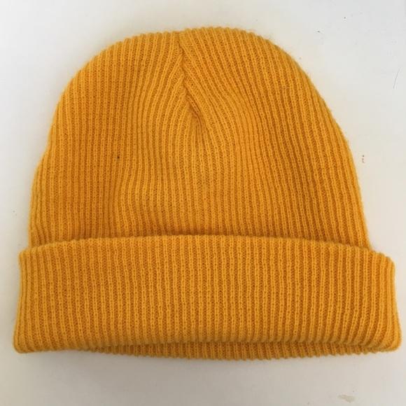 mustard yellow vans beanie